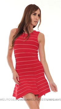 Torn Red Stripe Dress