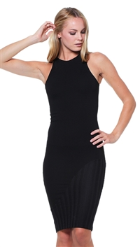 Torn by Ronny Kobo Black Stephanie Open Mesh Cocktail Dress