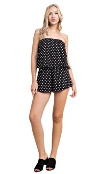 Honey Punch Black Print Romper