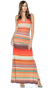 Sky Orange Rosemarie Maxi Dress