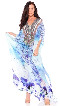Parides Santorini 'Avatar' Long 3 Ways Top Style Kaftan