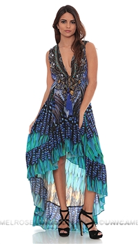 Parides High Low Blue Jay Maxi Dress
