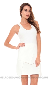 Cut 25 White Multi Layer Scuba Dress