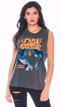 Daydreamer Dark Gray 'Diary Of A Madman' Ozzy Ozbourne Cut Off Shirt