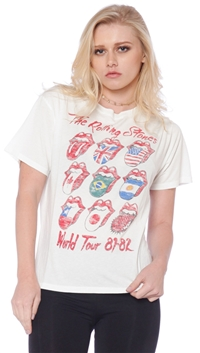 Daydreamer Vintage White 'Rolling Stones Tour' T-Shirt