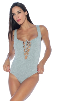 De Lacy Heather Grey 'Chloe' Bodysuit