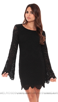 NightCap Black Tie Back Priscilla Dress