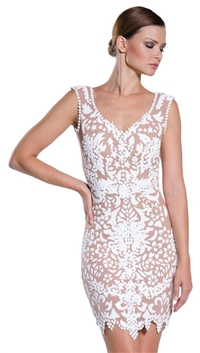 Ema Savahl White 'Custom Aurora' Mini Dress