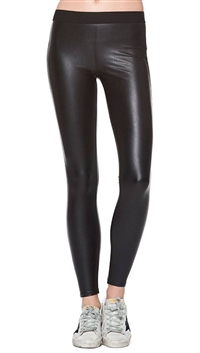 David Lerner Black 'Vegan Barlow' Leggings