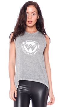 David Lerner Gray 'Wonder Woman' Muscle Tank