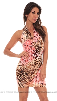 Savee Couture Multi Pink Mini Dress