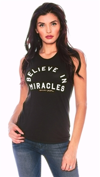 Spiritual Gangster Vintage Black 'Believe In Miracles Arch' Top