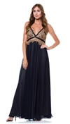 Julian Joyce by Mandalay Navy Braided Strap Maxi Dress