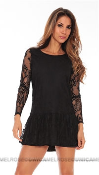 Lovers + Friends Black Heart Mini Dress
