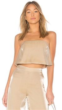Lovers + Friends Gold 'Alchemy' Top