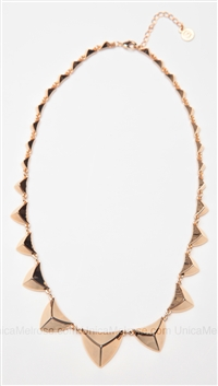 House of Harlow 14 kt Gold Plated Pyramid Station Necklace