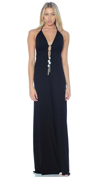 Nicole Andrews Collection Black 'Malibu' Maxi Dress