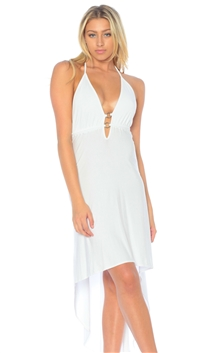 Nicole Andrews Collection White 'Malibu' High-Low Dress