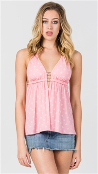 Nicole Andrews Pink Patterned 'Malibu' Top