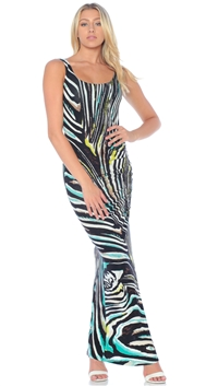 Nicole Andrews Collection Atlantis Print 'Forever' Tank Maxi Dress