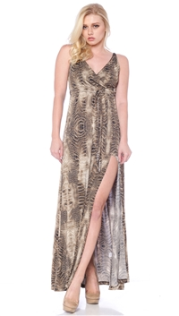Nicole Andrews Collection Snake Print 'Malibu' Maxi Dress