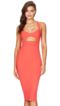 Nookie Coral 'Donna' Bodycon Dress