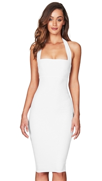 Nookie White 'Boulevarde' Halter Midi Dress