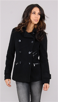 Andrew Marc Black Wool jacket
