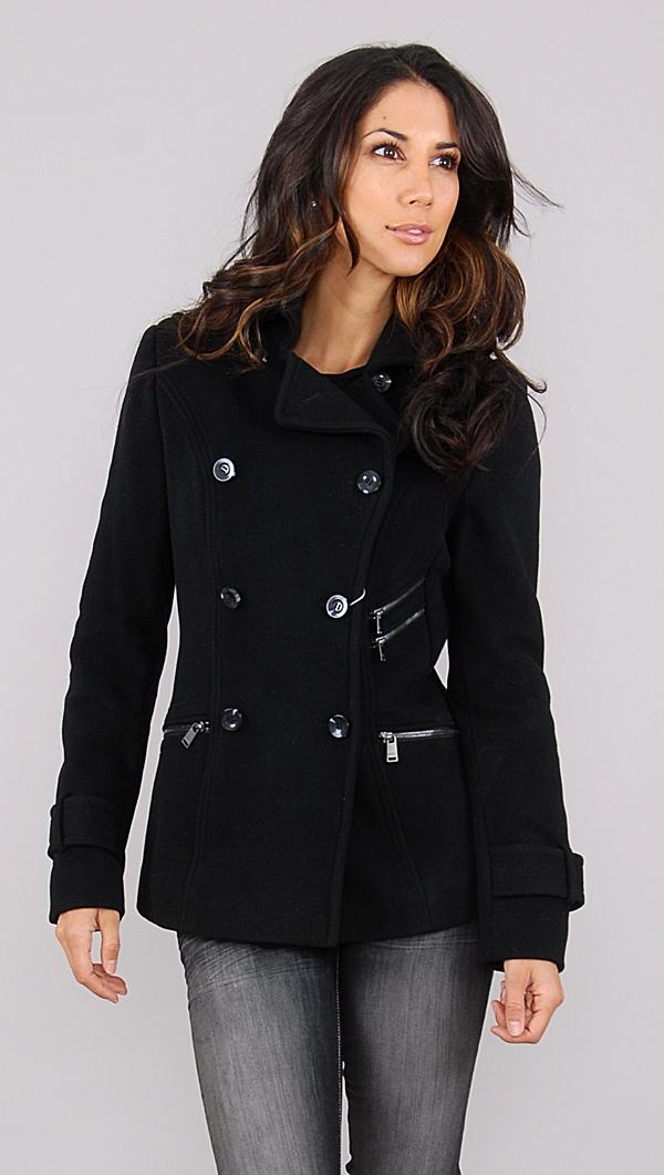 Andrew Marc Black Wool jacket