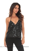 Parker NY Black Sequined Kae Tank
