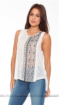 Parker NY Black & White Caroline Top