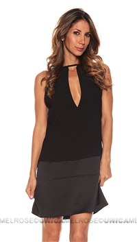 Parker NY Black Stacy Mini Dress
