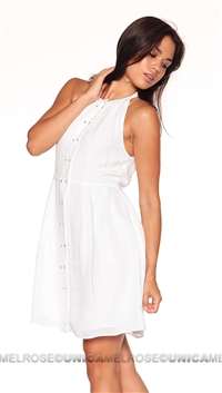 Parker NY White Nicole Mini Dress