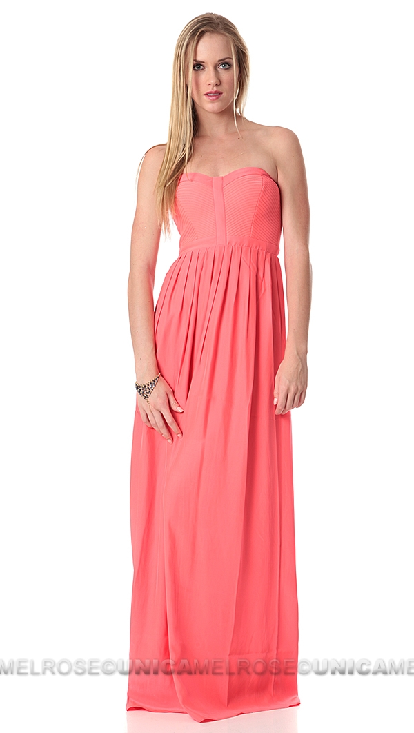 Parker NY Shock Pink Bayou Maxi Dress