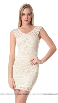 NIghtcap Natural Cherokee Diamond Mini Dress