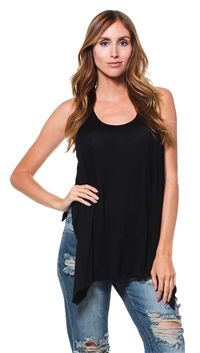 Sen Black Swing Tank Top