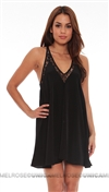 Lovers + Friends Black Mini Dress with Lace