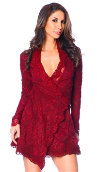 Stone Cold Fox Blood Red Fillmore Dress