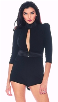 House Of Zhivago Black 'Siempre Viva' Playsuit
