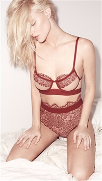For Love & Lemons Rose 'Loucette' Demi Bra