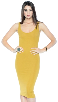 Enza Costa Saffron Tank Ribbed Dress