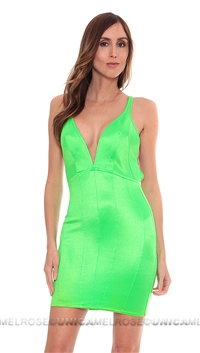 Mark Wong Nark Neon Green 'Star is Born' Mini Dress