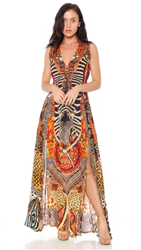 Parides Sunset 'Tribal' Maxi Dress