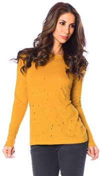 Iro Mustard Yellow Marvina T Shirt