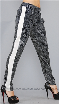 Parker NY Black White Talon Pants