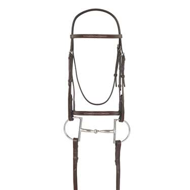 Camelot™ Raised Fancy Stitch Snaffle Bridle