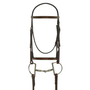 Camelot Gold™ Plain Raised Bridle with Laced Reins