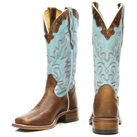 Women's Boulet Damiana Moka and Organza Dezy Wide Square Toe Boots