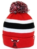 The 47 Brand Breakaway Chicago Bulls Pom Cuff Beanie Red White