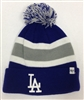 The 47 Brand Breakaway LA Dodgers Pom Cuff Beanie Blue Gray White